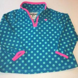 OshKosh B'gosh, pullover fleece,  with 1/4 zip.